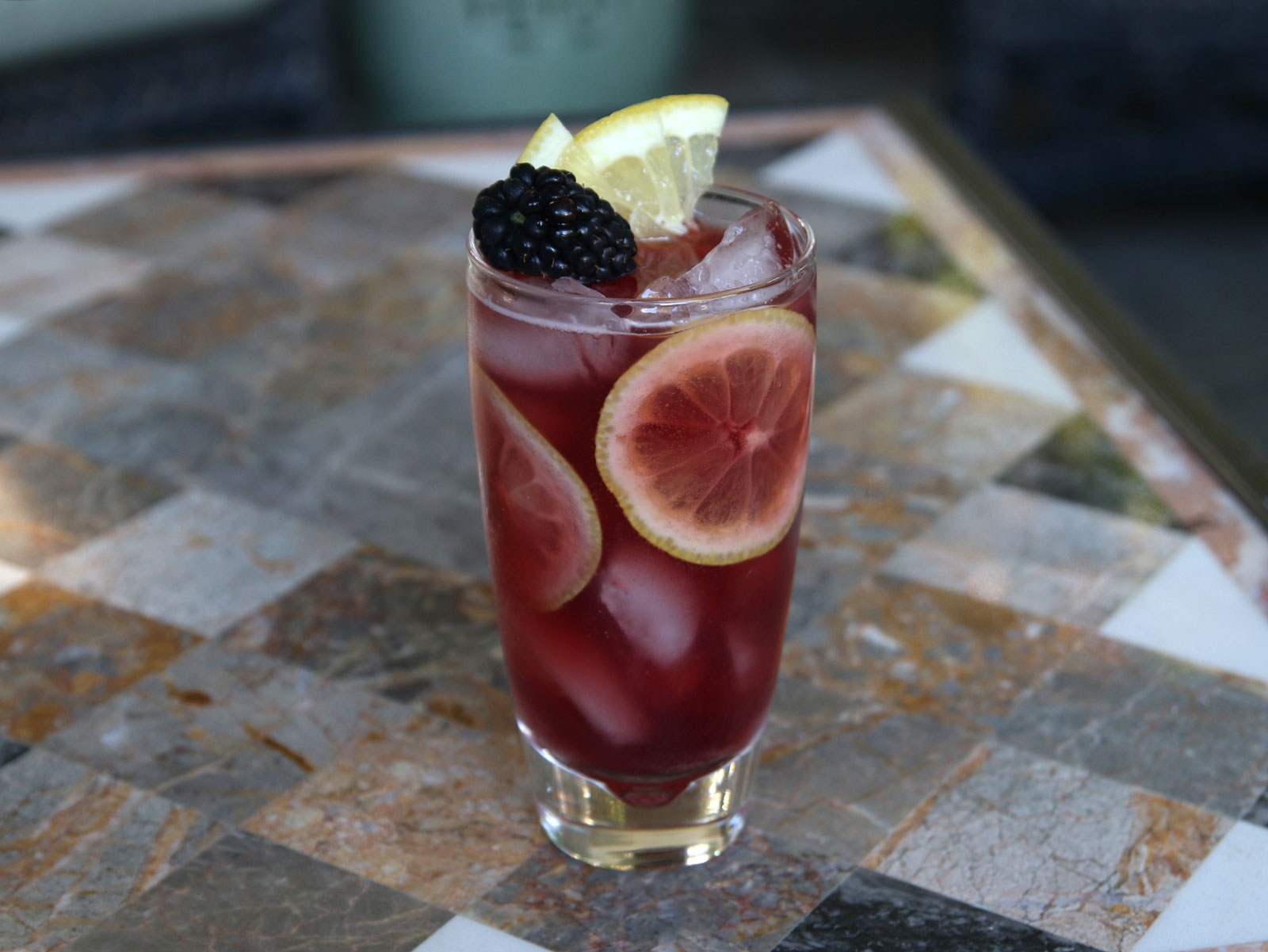 Lemon & Berries Cocktail