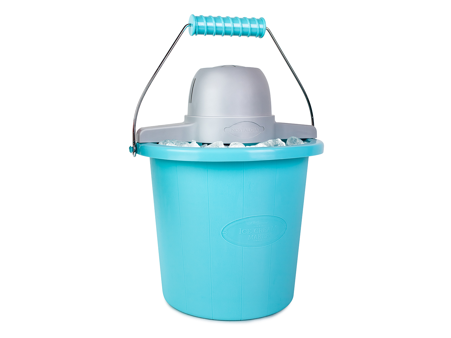 Nostalgia Electrics 4-Quart Blue Bucket Electric Ice Cream Maker