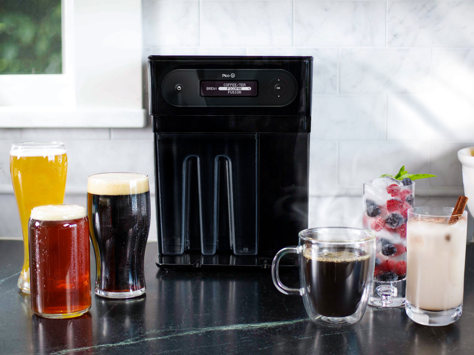 This Countertop Beer Machine Brews Coffee, Tea, and Kombucha, Too
