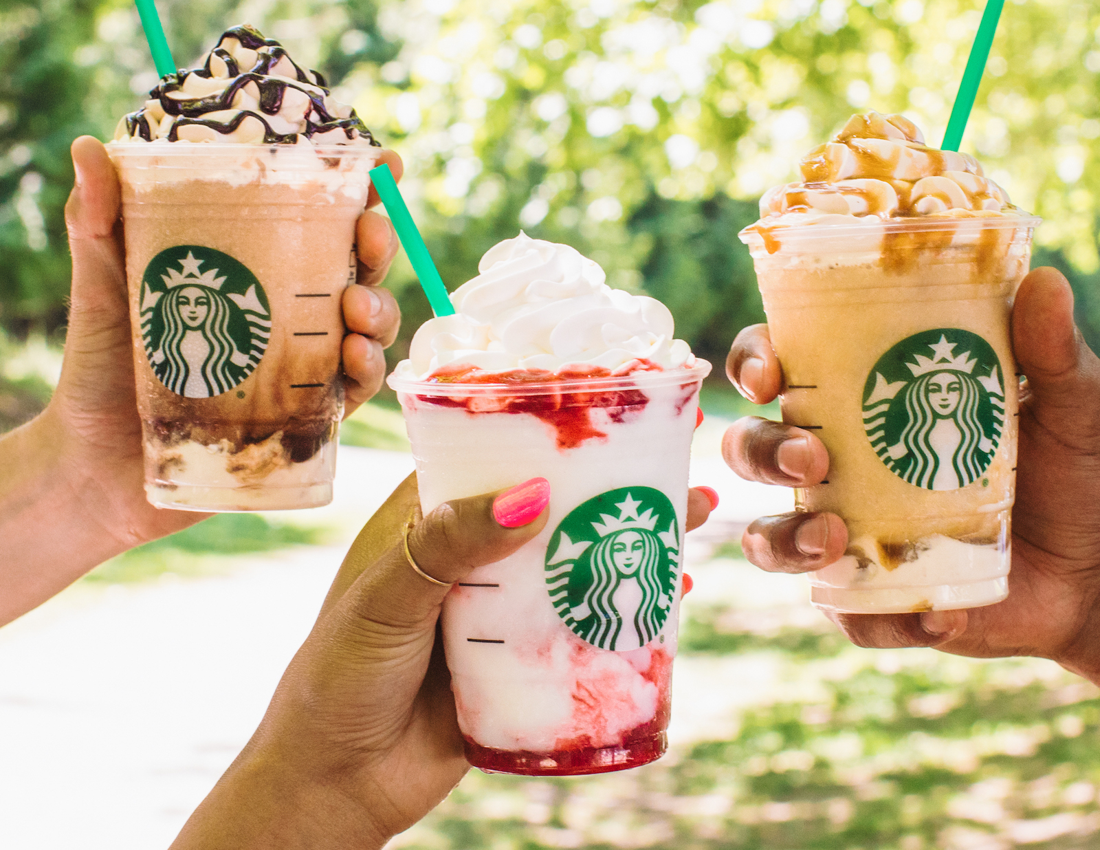 Starbucks' New Strawberry Frappuccino Ditches Millennial Pink for a Layered Look