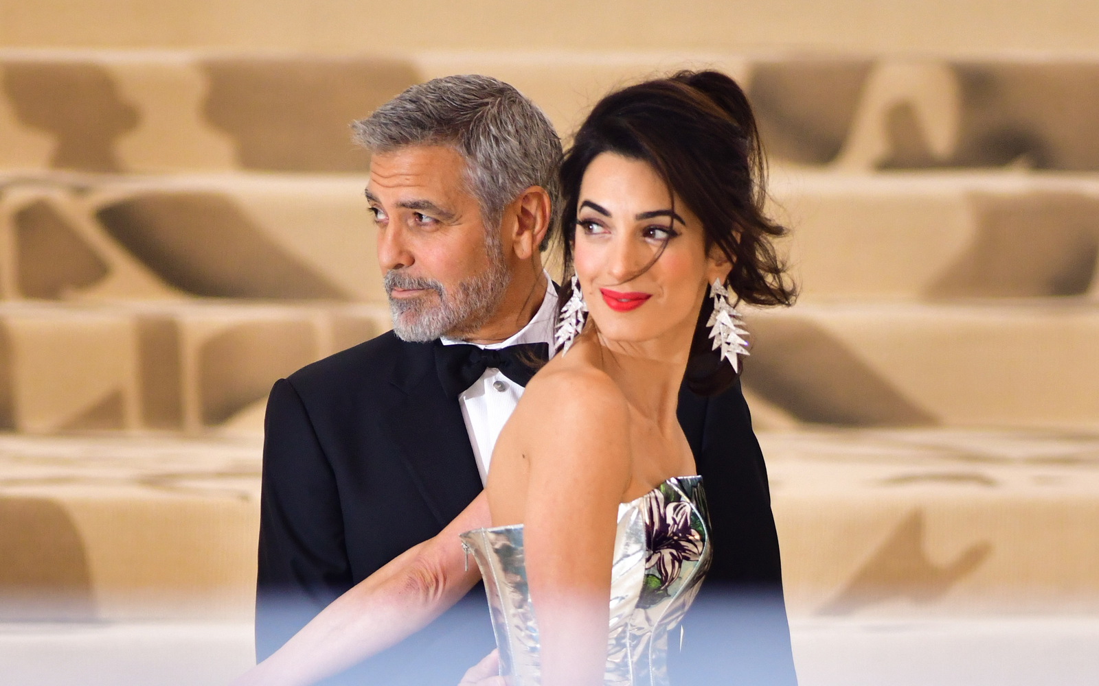 George and Amal Clooney Are on Vacation in Sardinia Eating 'Van Ham'
