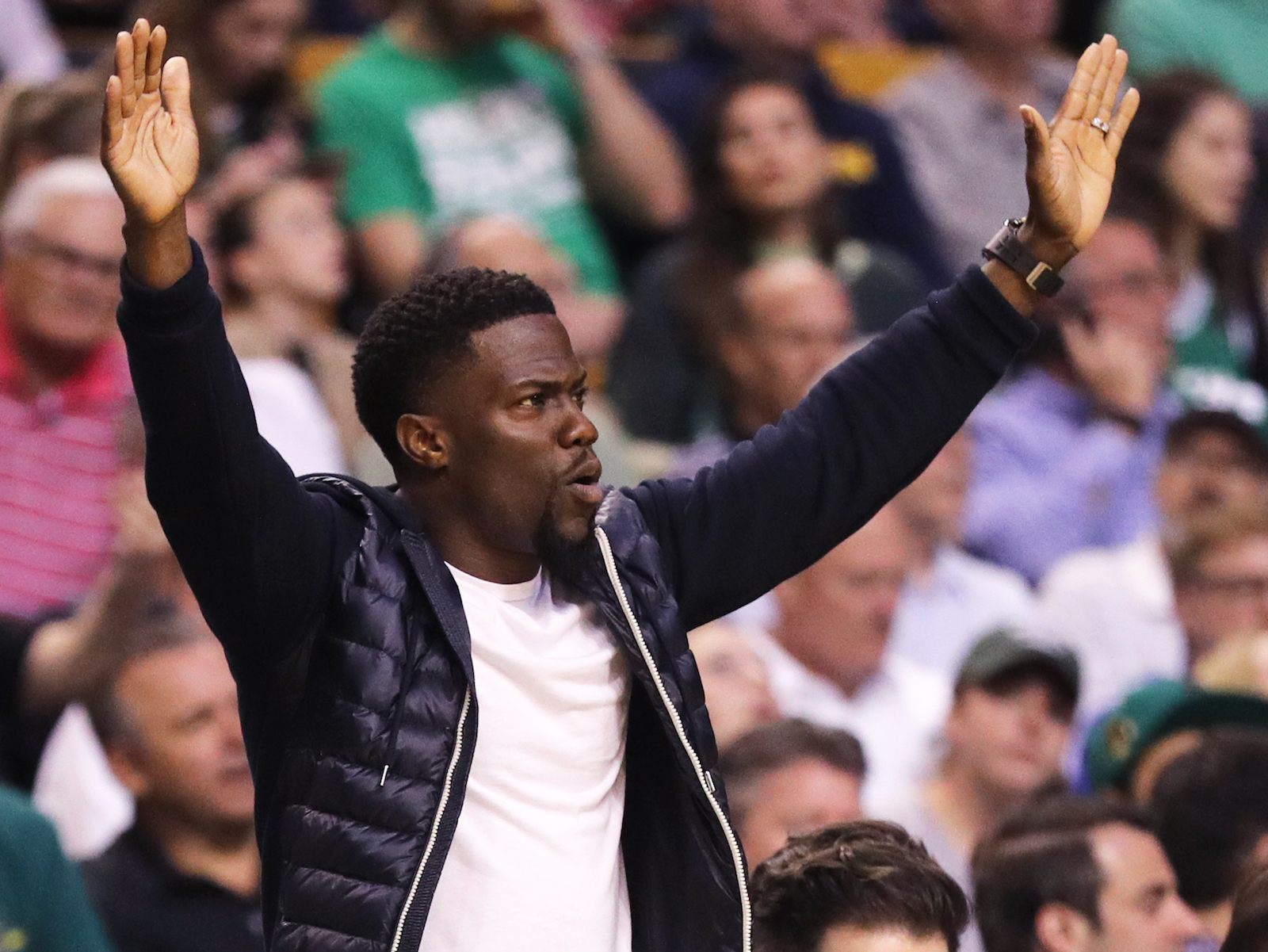 Watch Kevin Hart Attempt Beer Yoga with Chance the Rapper