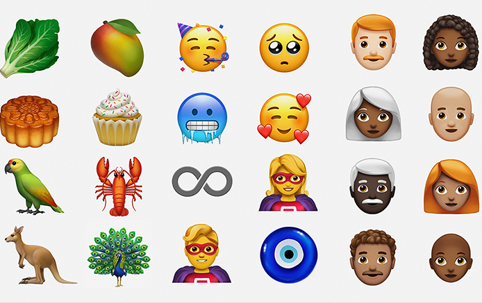 Apple emojis preview