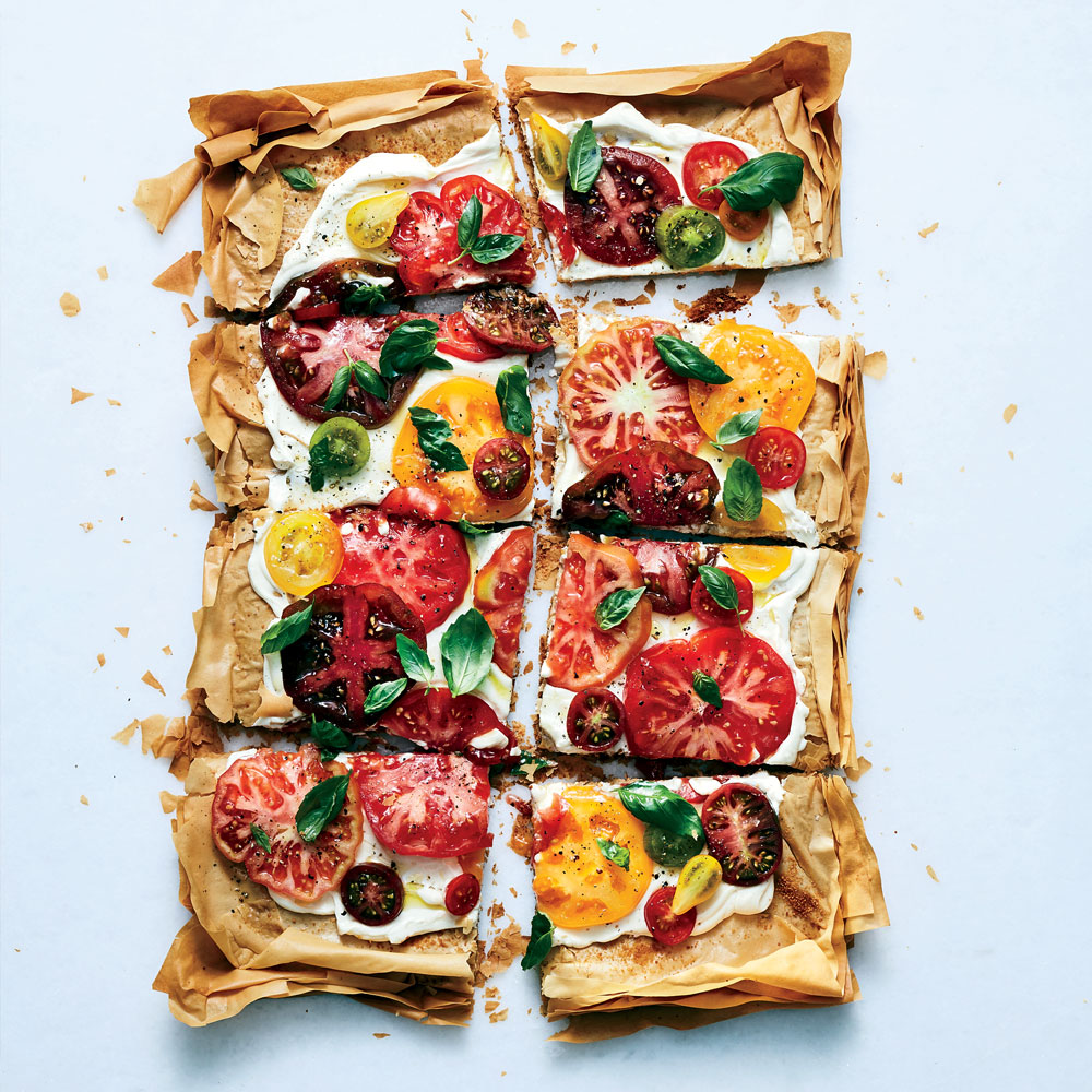Giant Summer Tomato Tart