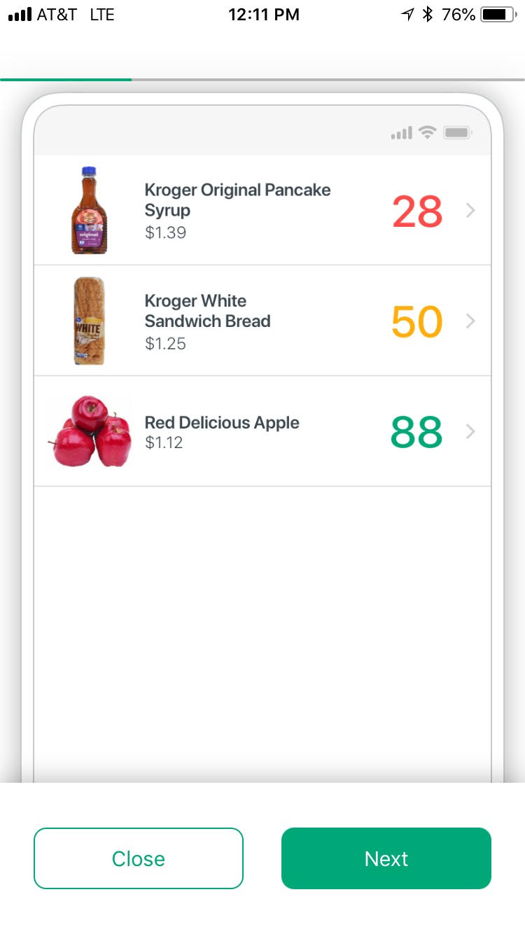 Kroger app screencap