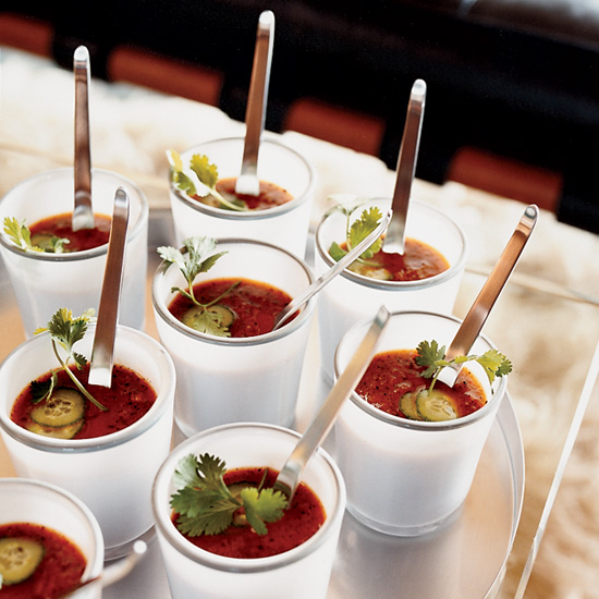 Grilled-Vegetable Gazpacho