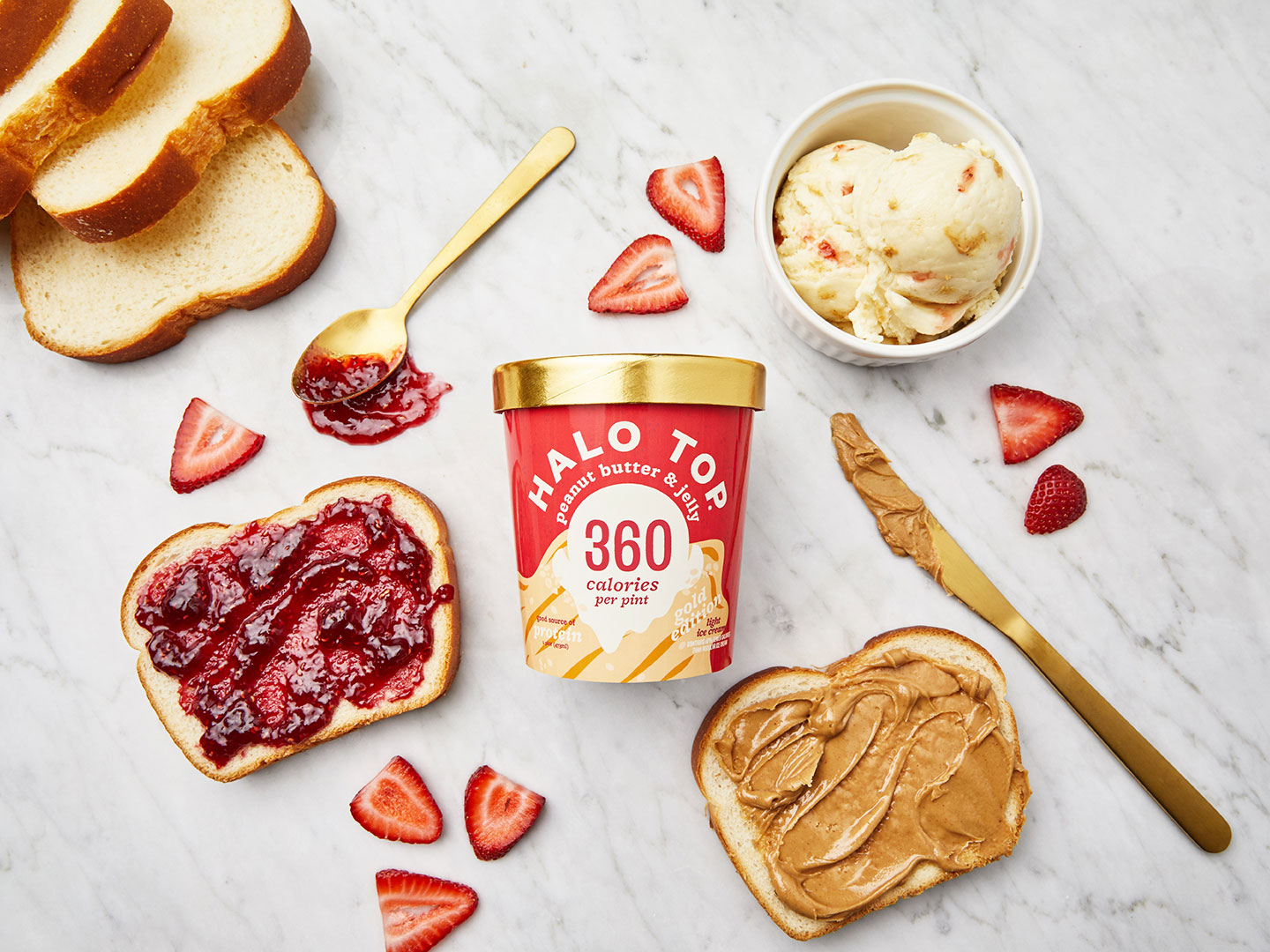 Halo Top's New Peanut Butter & Jelly Ice Cream Has a Super Surprising Mix-In