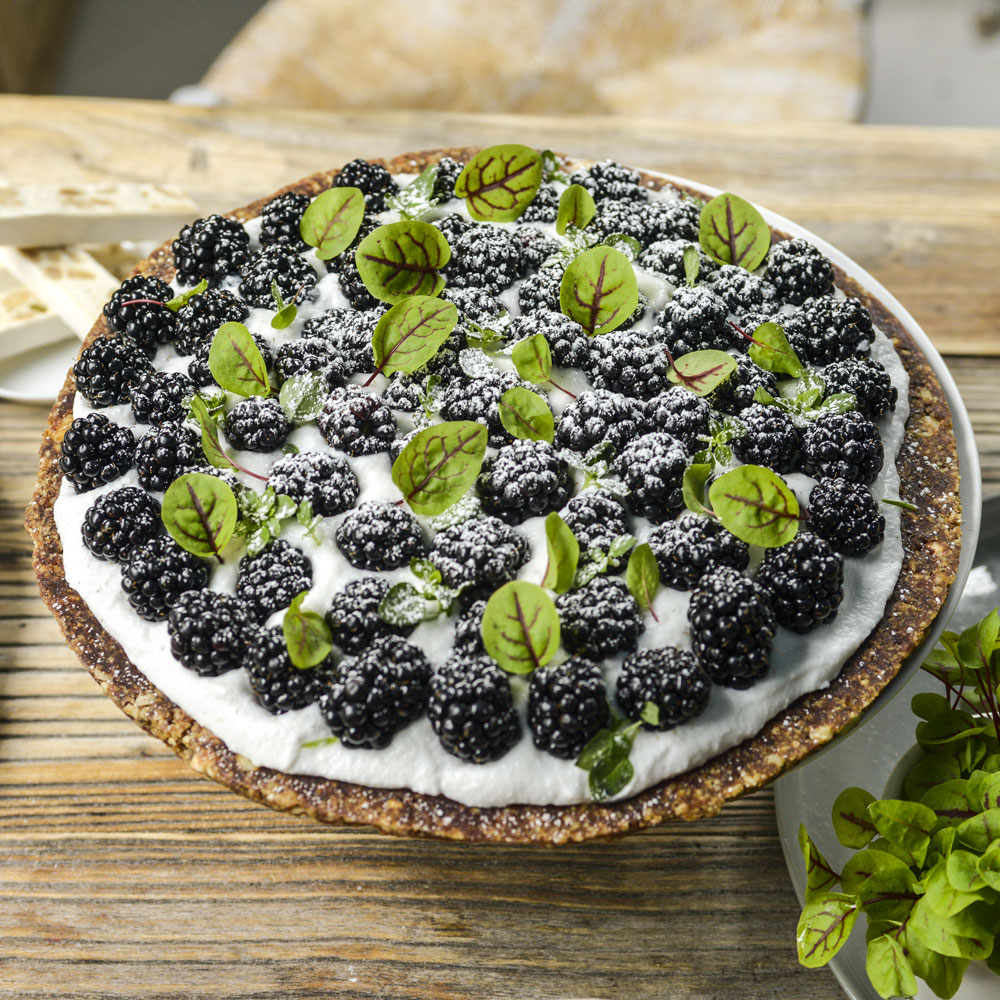 Raw Berry Tart with Coconut Cream