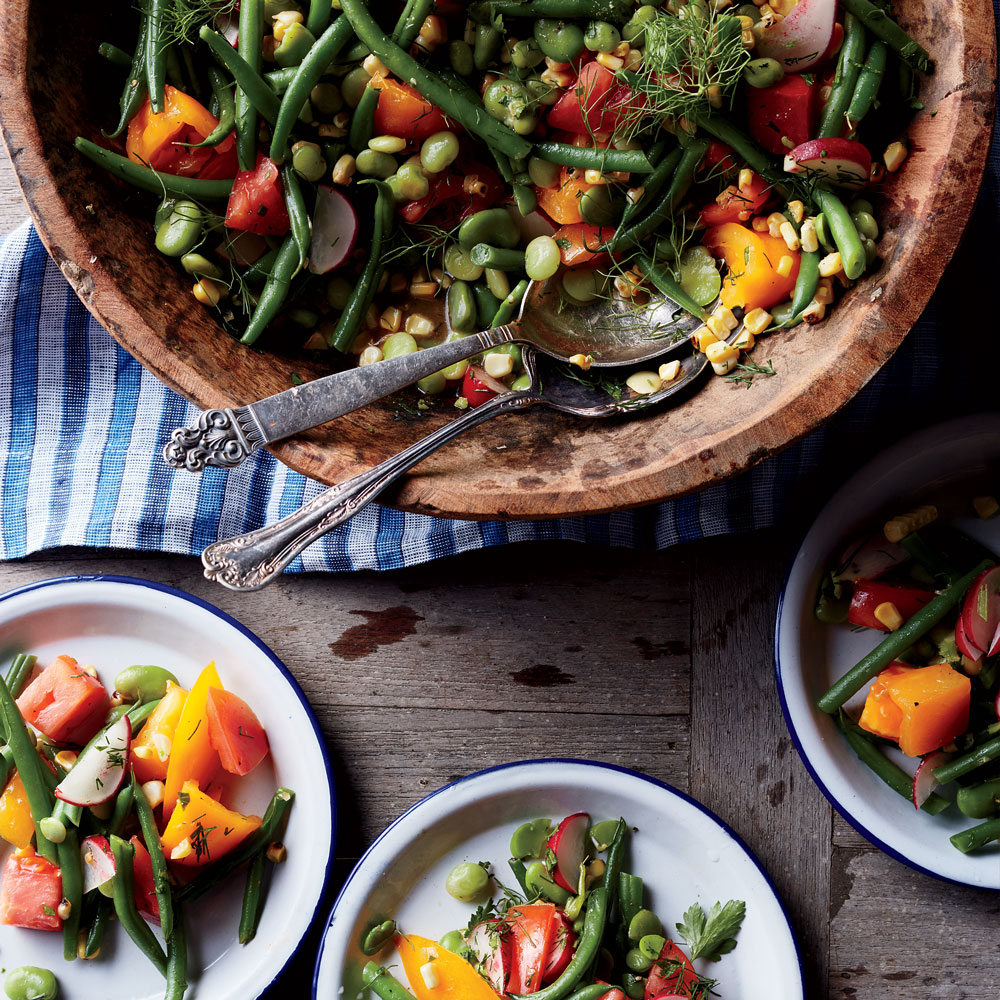 Summer Bean Salad with Potlikker Vinaigrette