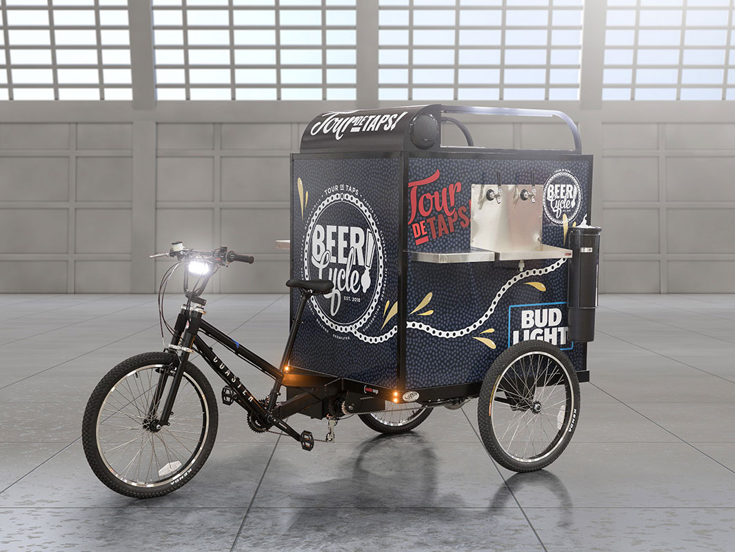Mobile 'BeerCycles' Hope to Cut the Wait for Drinks at NFL Stadiums This Season