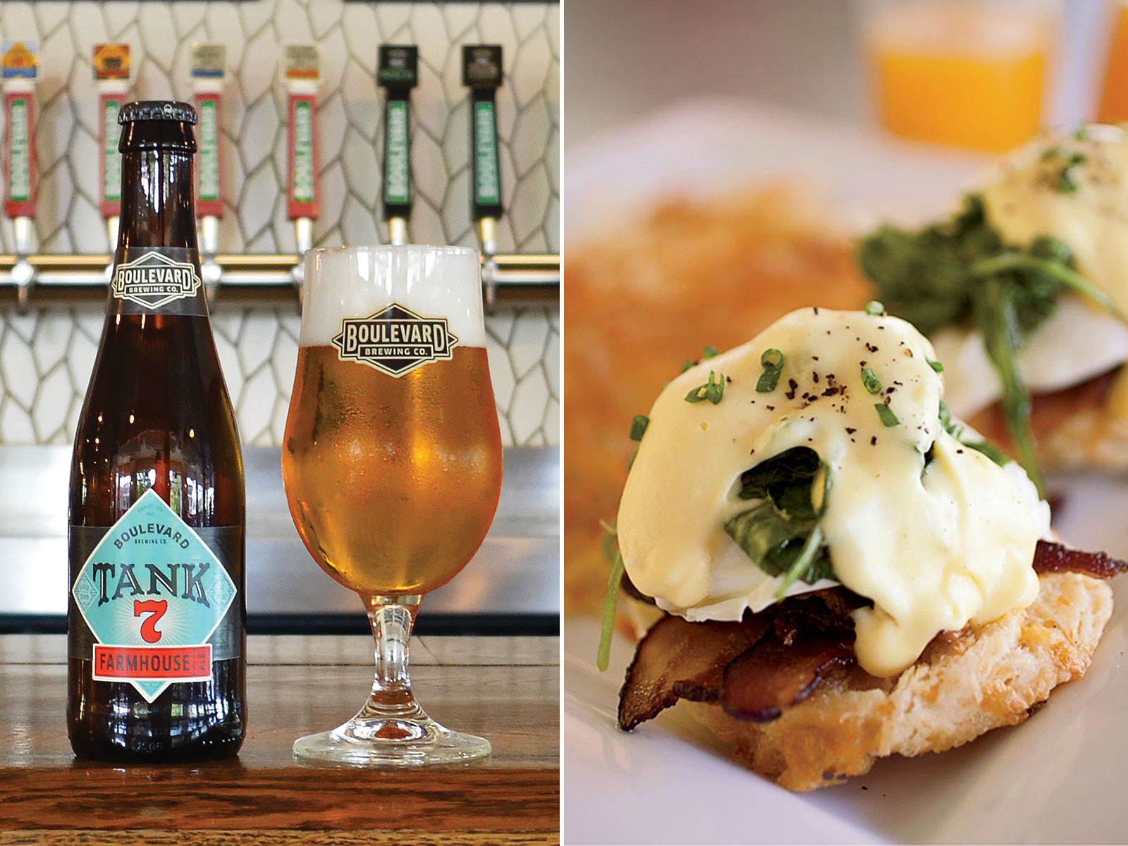 Eggs Benedict and Tank 7