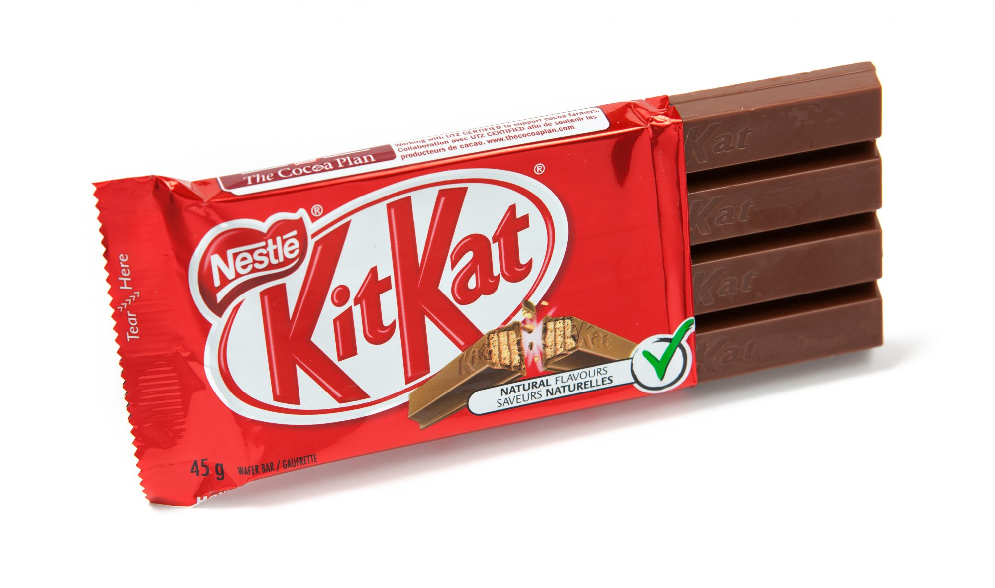 Kitkat Chocolate Candy Bar Unwrapped