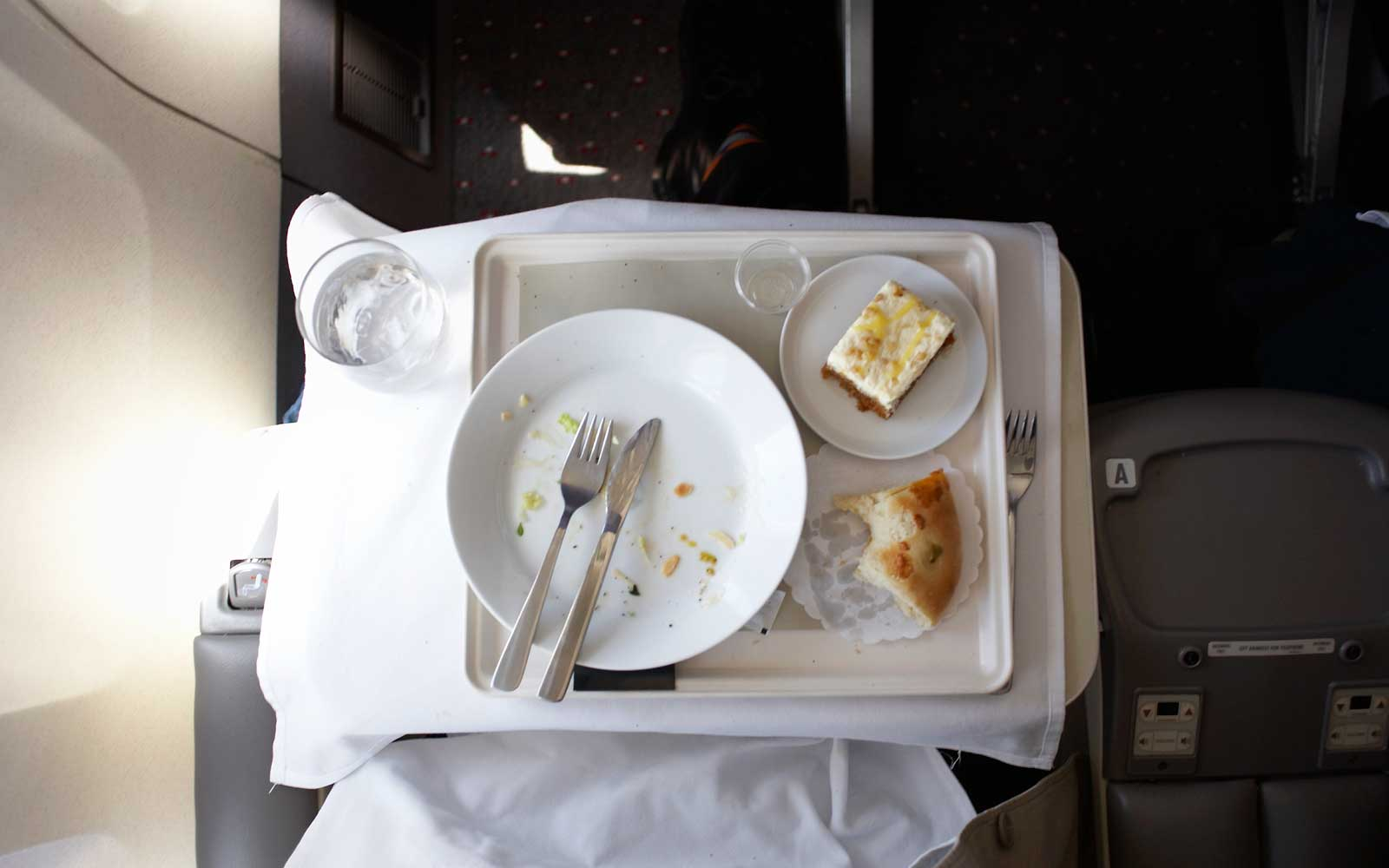 Airplane meal, tray