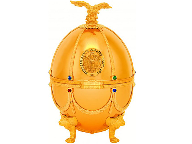 This $1,800 Vodka Comes Packaged in aGiantGoldenFabergéEgg