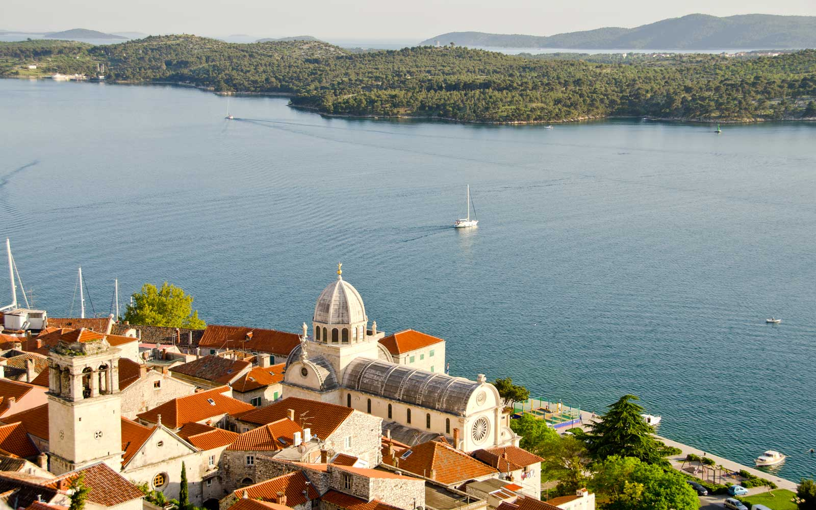 View from St Michel Castle in Sibenik, Croatia