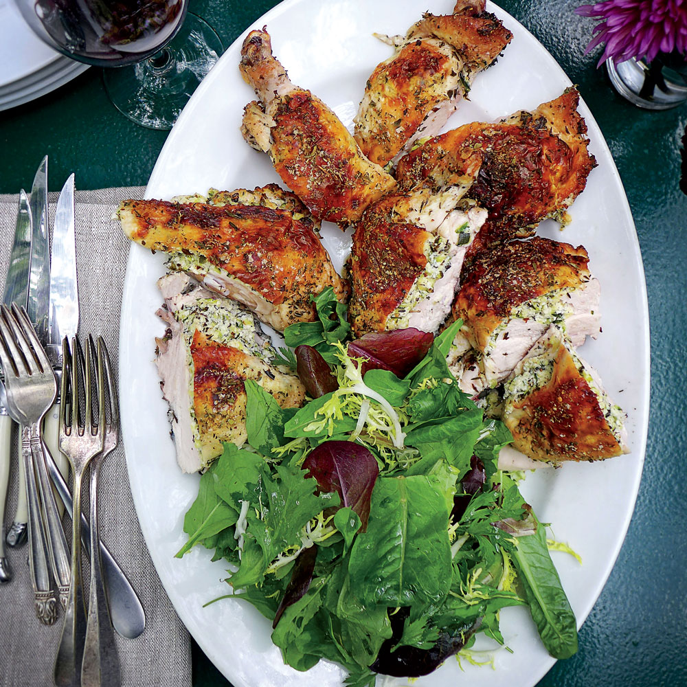 Zucchini-and-Herb-Stuffed Chicken