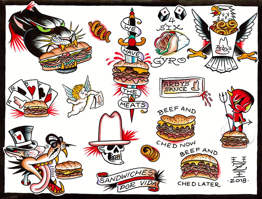 Arby's Will Give You a Free Sandwich Tattoo This Weekend