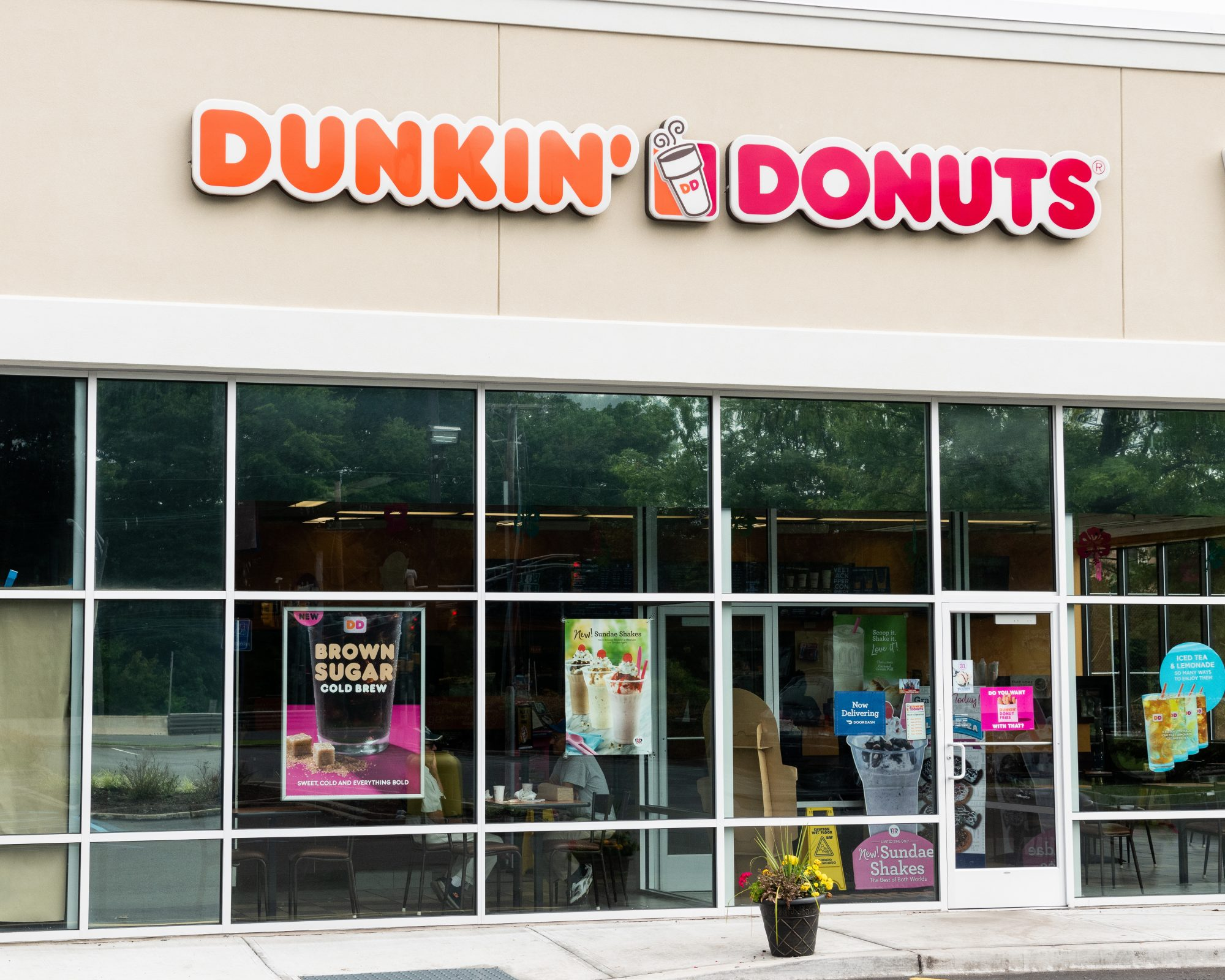 Dunkin' Donuts store in North Brunswick Township, New Jersey