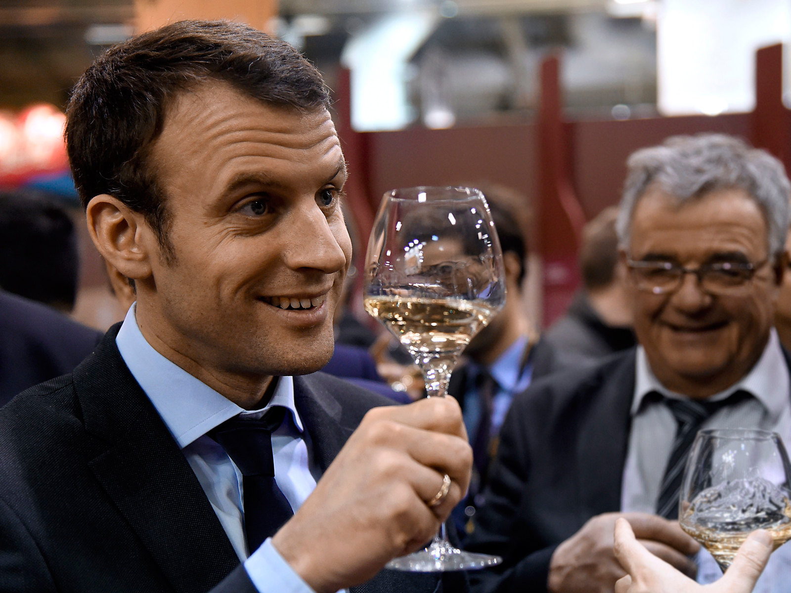 France's Emmanuel Macron Opened His Presidential Wine Cellar to the Public