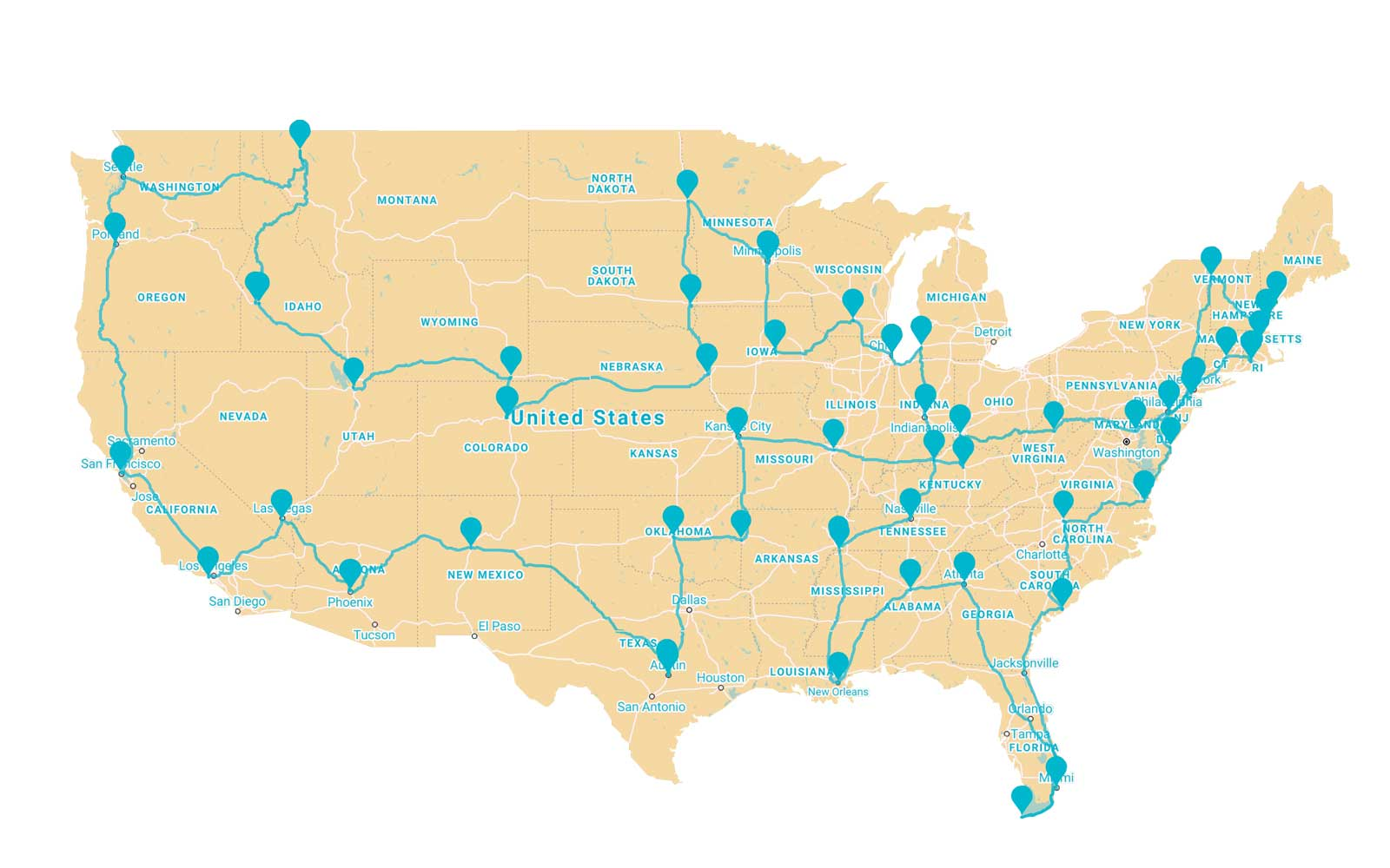 Here's a Great Road Trip Tool for Anyone Who Wants to Eat Their Way Across the U.S.