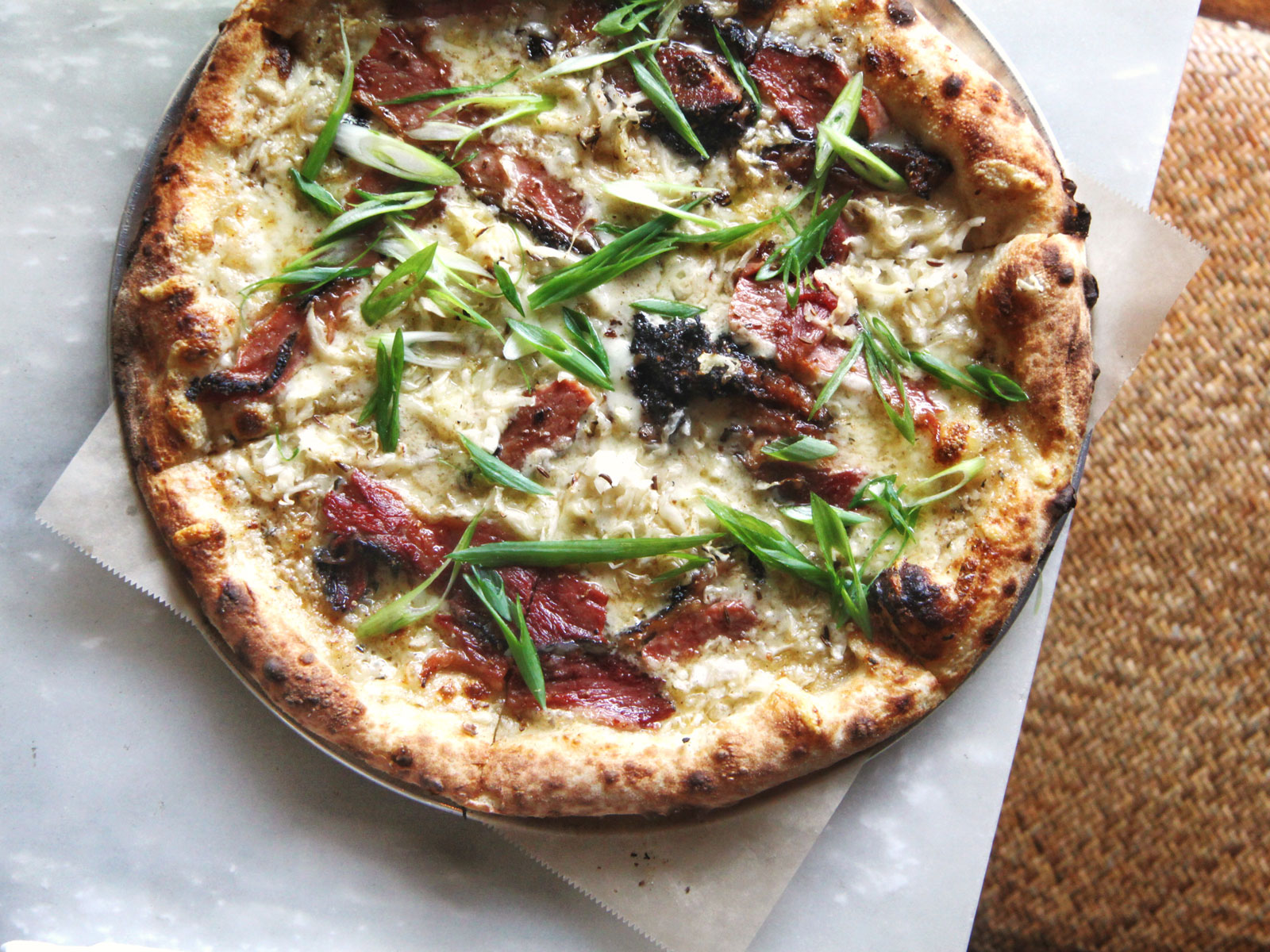 Let's All Move to Miami Because Pastrami-Topped Rye Pizza Exists There