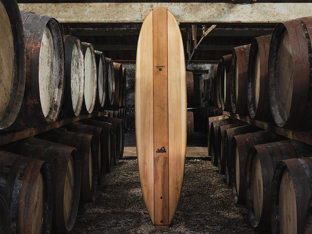 These Surfboards Are Made From Scotch Whisky Barrels