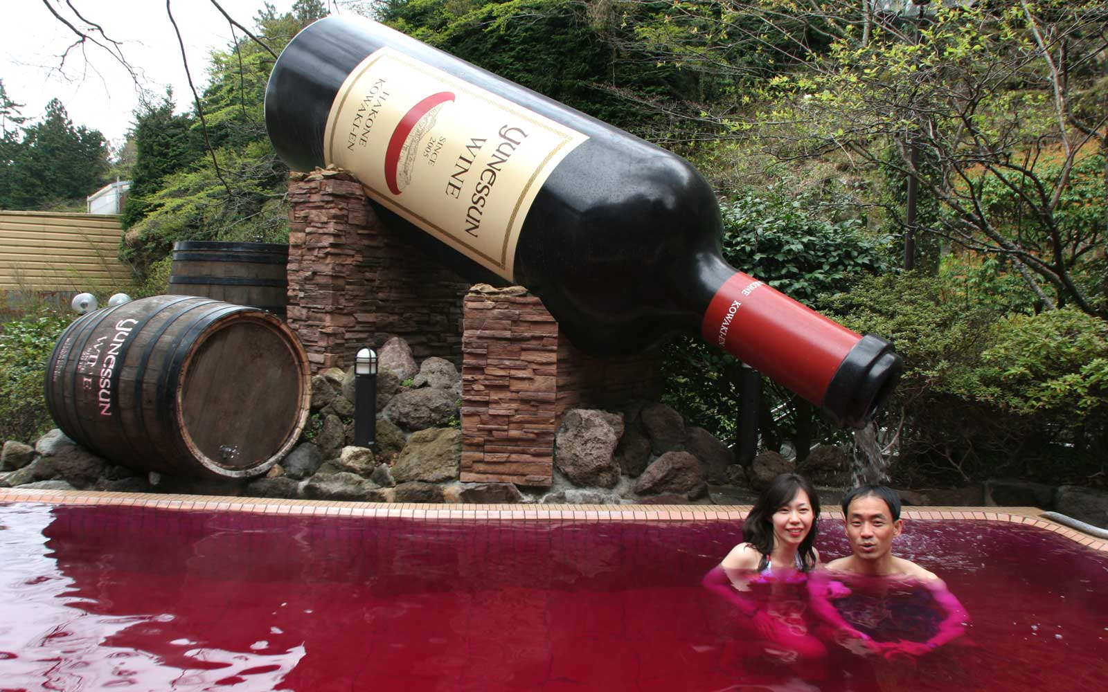 You Can Bathe in Wine, Coffee, or Ramen Broth at This Japanese Spa