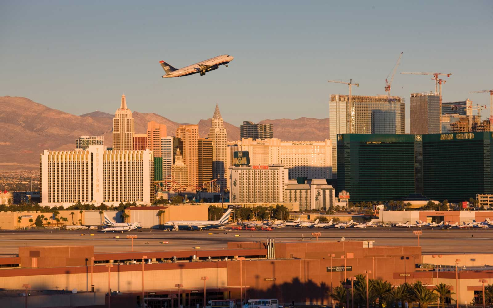 The Las Vegas McCarran International Airport is one of the top ranking mega airports when it comes to passenger satisfaction.