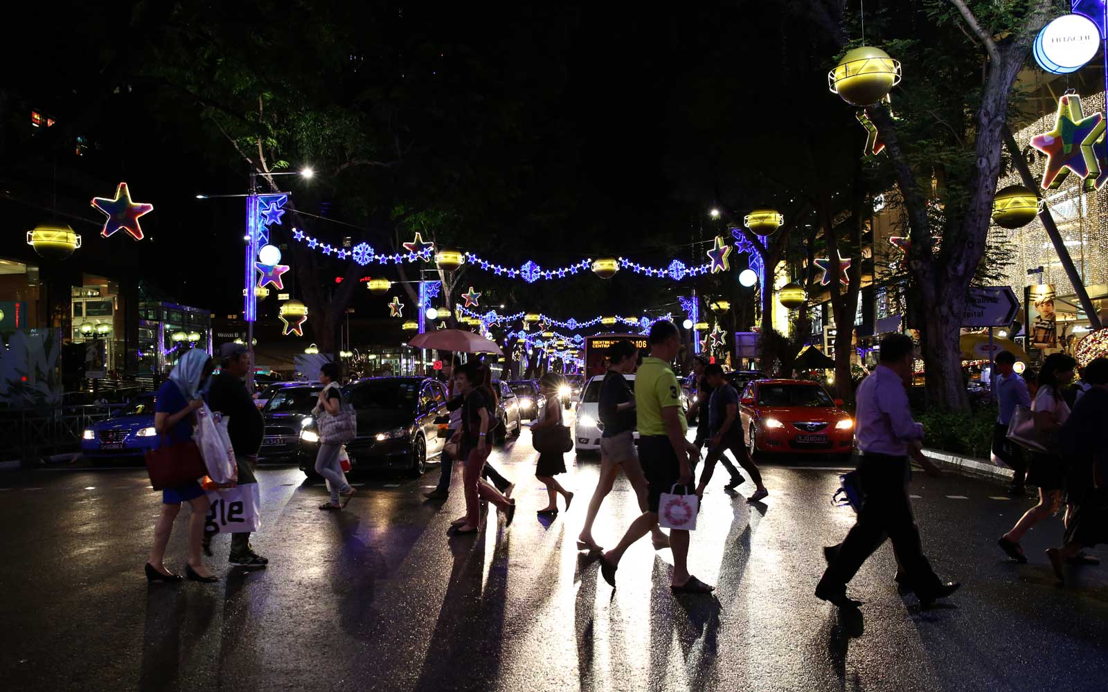 Orchard Road Lights Up For Christmas, Singapore