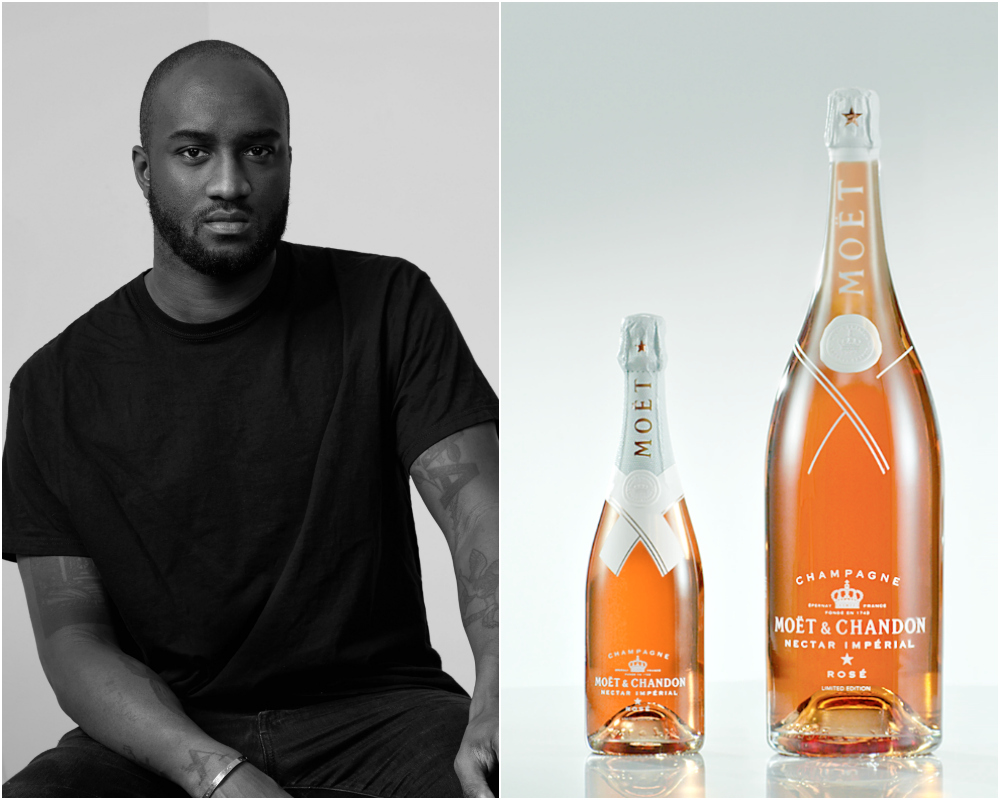 Virgil Abloh Collaborates With Moët & Chandon on Limited-Edition Rosé Champagne Bottles