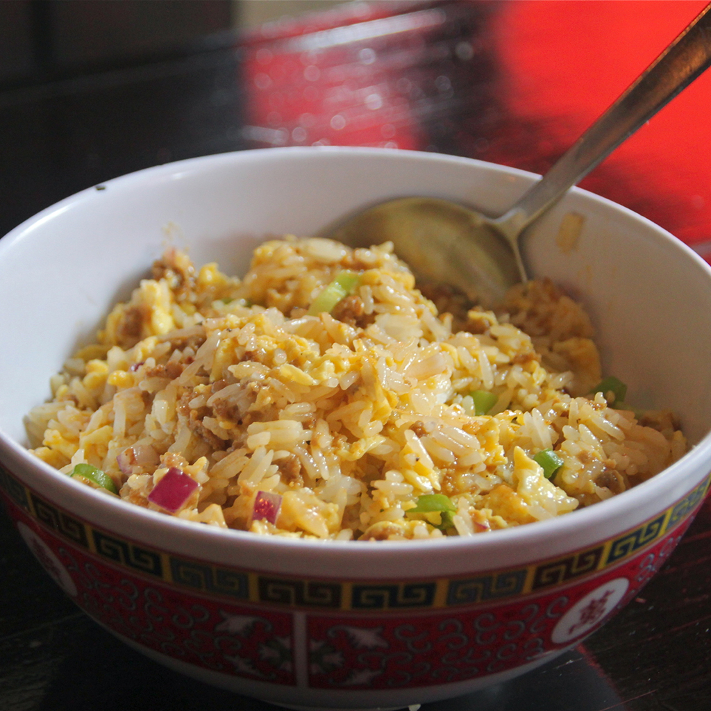 Sausage, Egg and Cheese Fried Rice