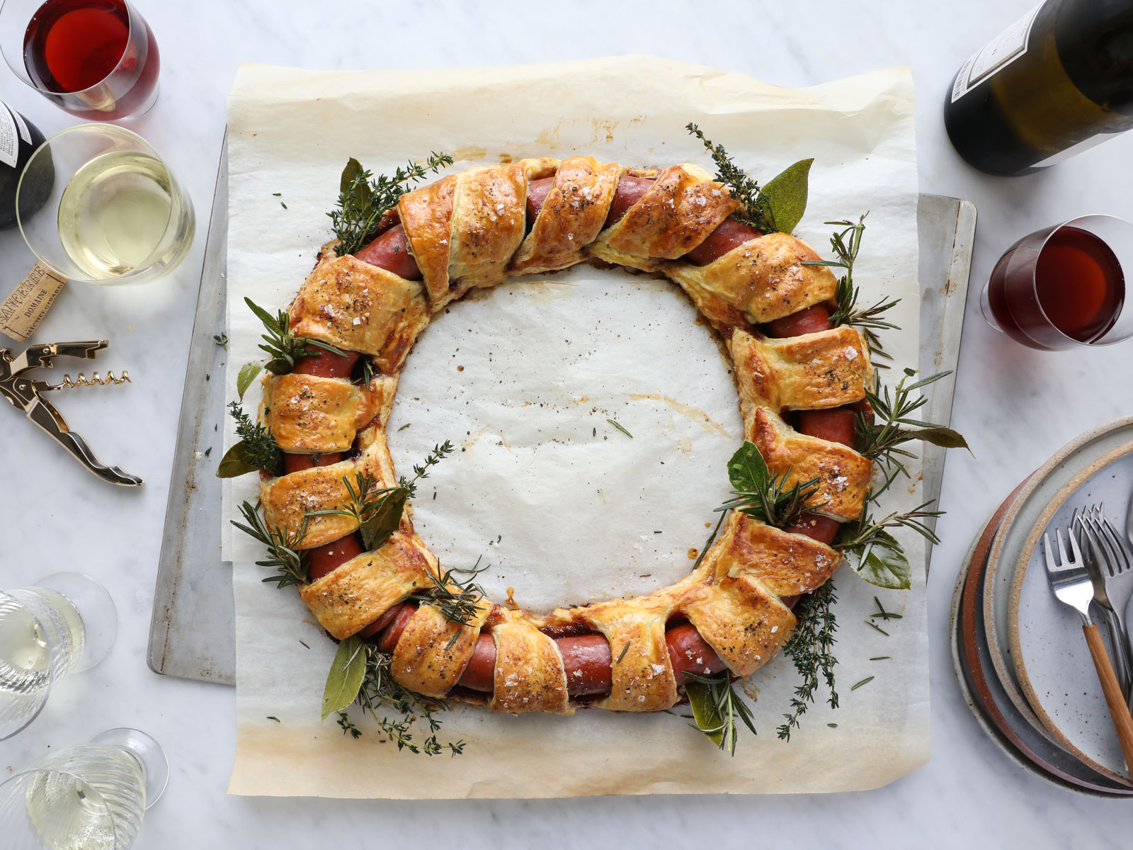 Smoked Sausage Wreath