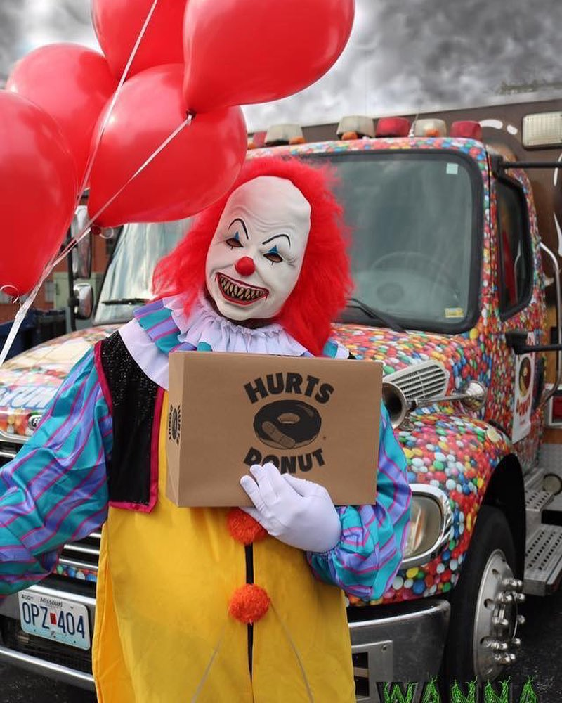 You Can Send a Scary Clown to Deliver Doughnuts (and Nightmares) to Your Friends