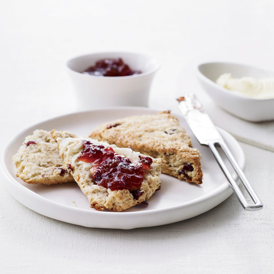 Brunch Recipes: Orange-Cranberry Scones with Turbinado Sugar