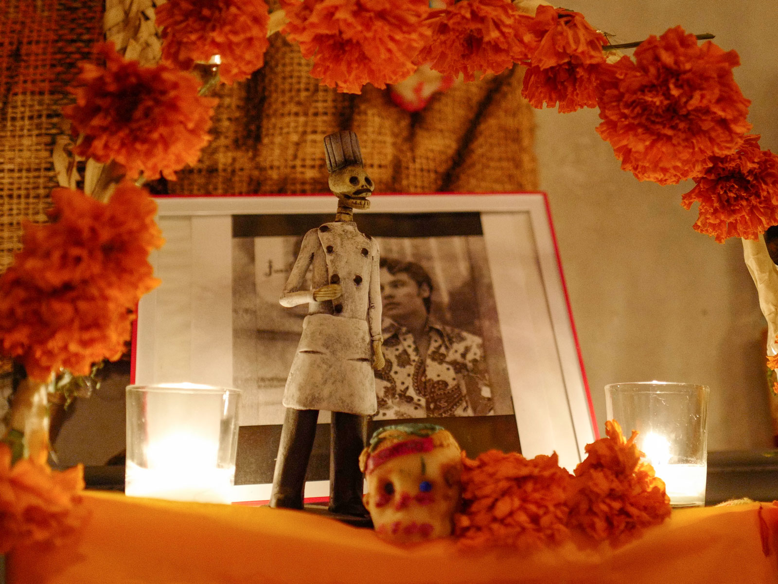 Chef to Celebrate Anthony Bourdain with Barbacoa-Topped Dia de Los Muertos Altar