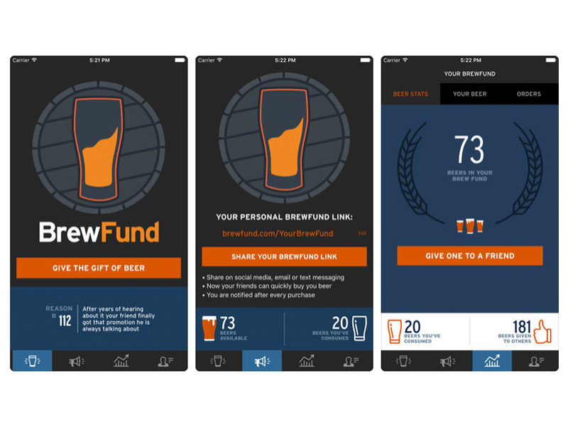 This app aims to let you buy a beer for a friend at their (or your) favorite taproom.
