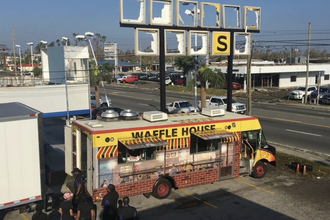 Waffle House Food Truck Gives Away Free Food to Panama City Hurricane Victims