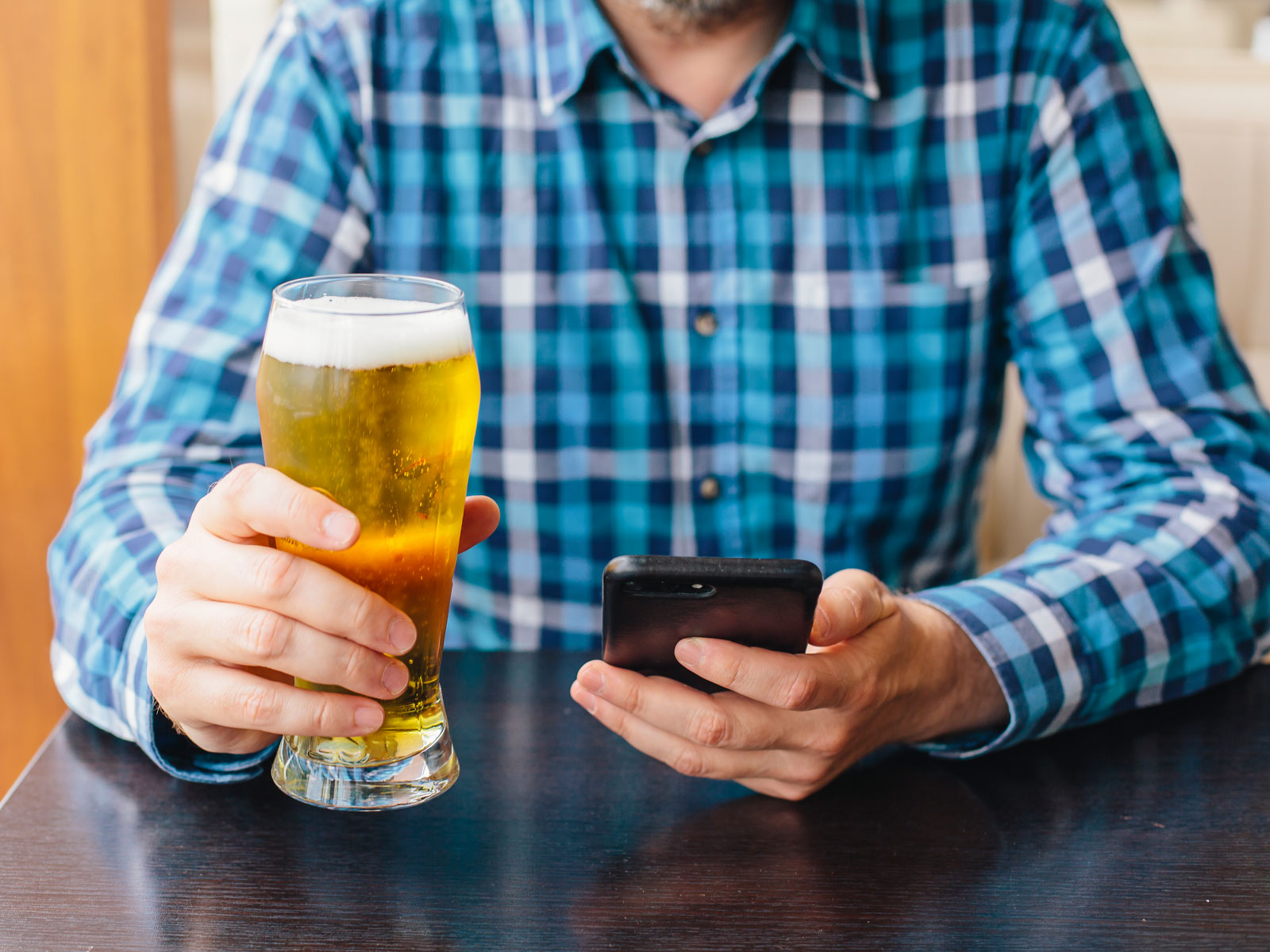 are untappd users more likely to check in cool beer food wine