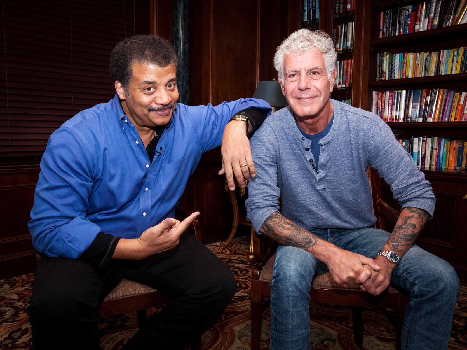 Watch Anthony Bourdain and Neil deGrasse Tyson Discuss Science, Space, and Finding Food's 'Sweet Spot'