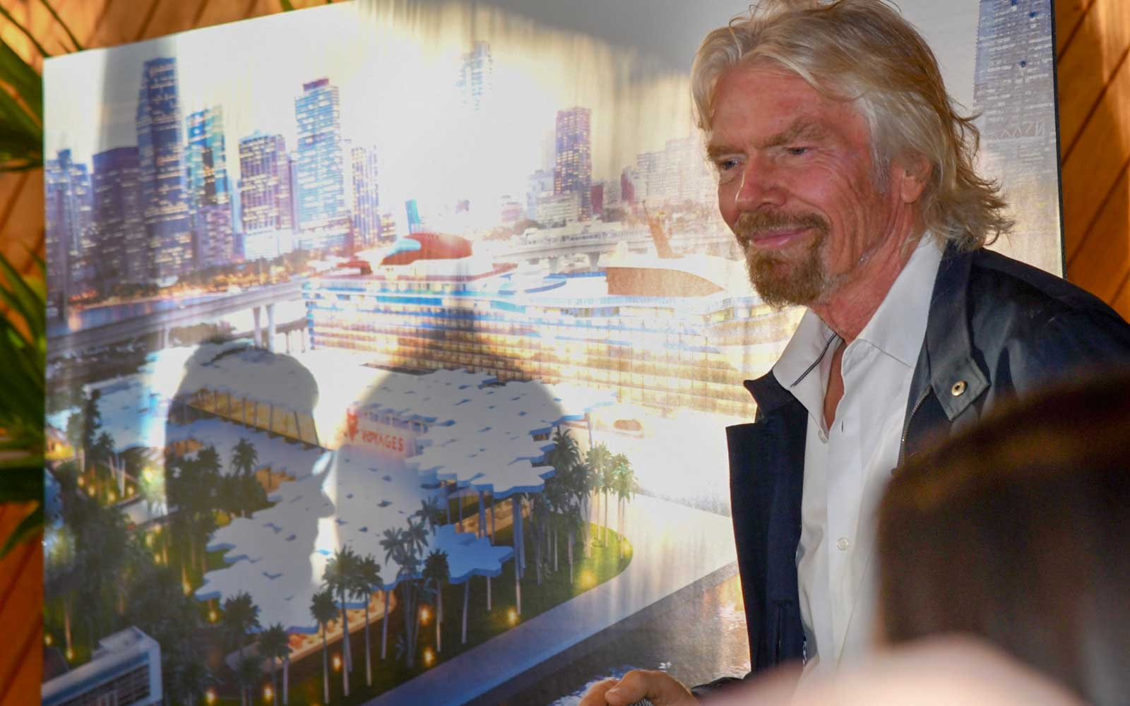 Richard Branson announces the Virgin Scarlet Lady cruise ship