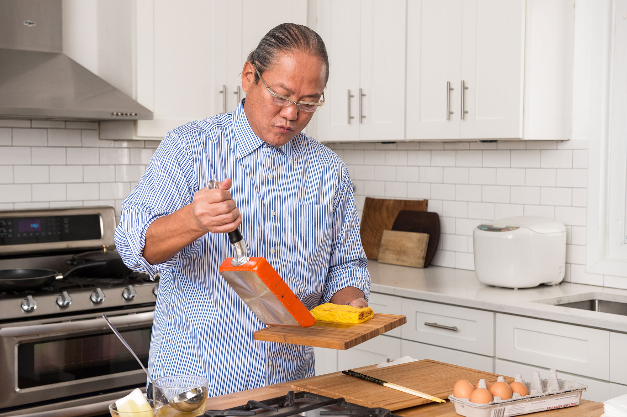 Iron Chef Morimoto's Step-By-Step Guide to Making the Perfect Japanese Omelet