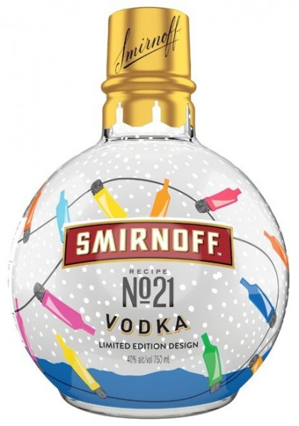Behold: Smirnoff Vodka Christmas Tree Ornament Bottles