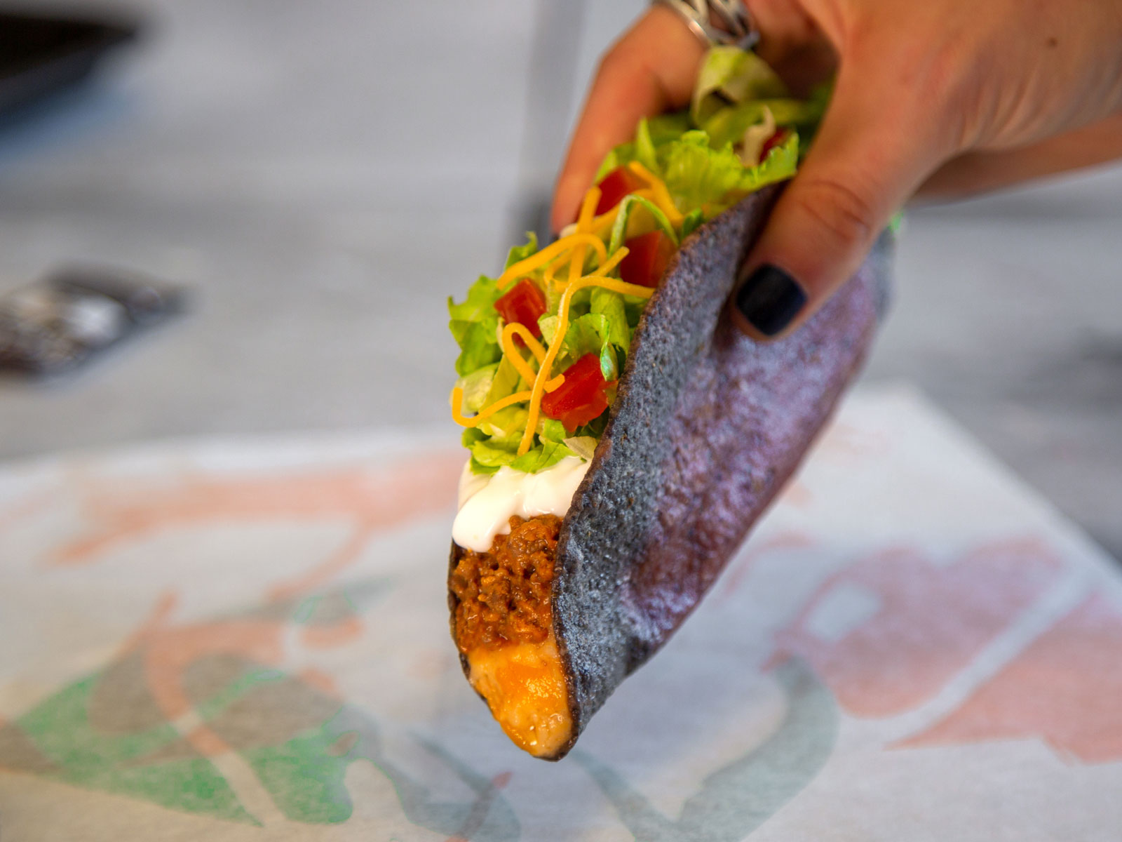Taco Bell Expands Trial of 'Midnight Melt Taco' with Blue Corn Shell