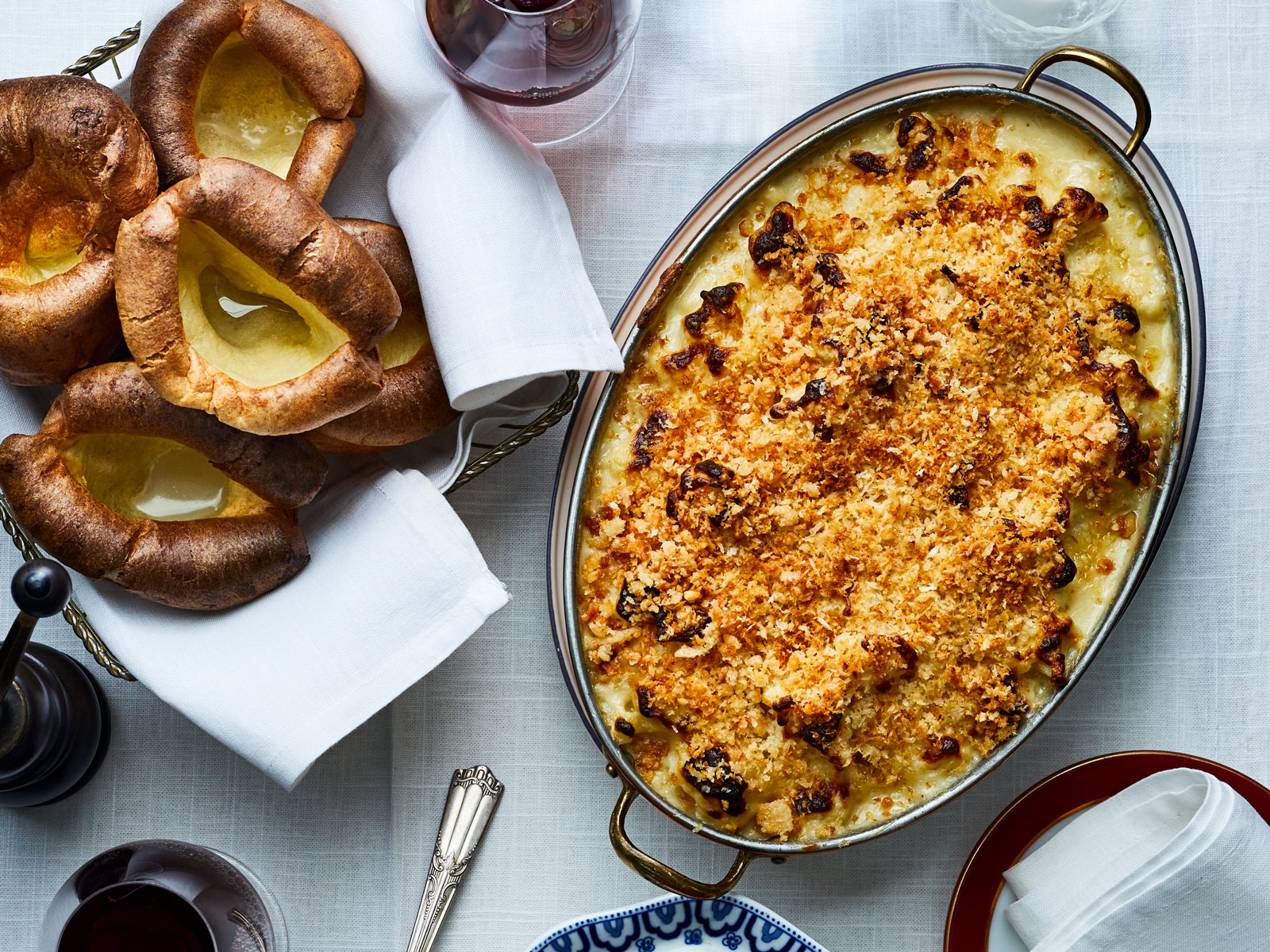 Three Cheese Cauliflower Gratin