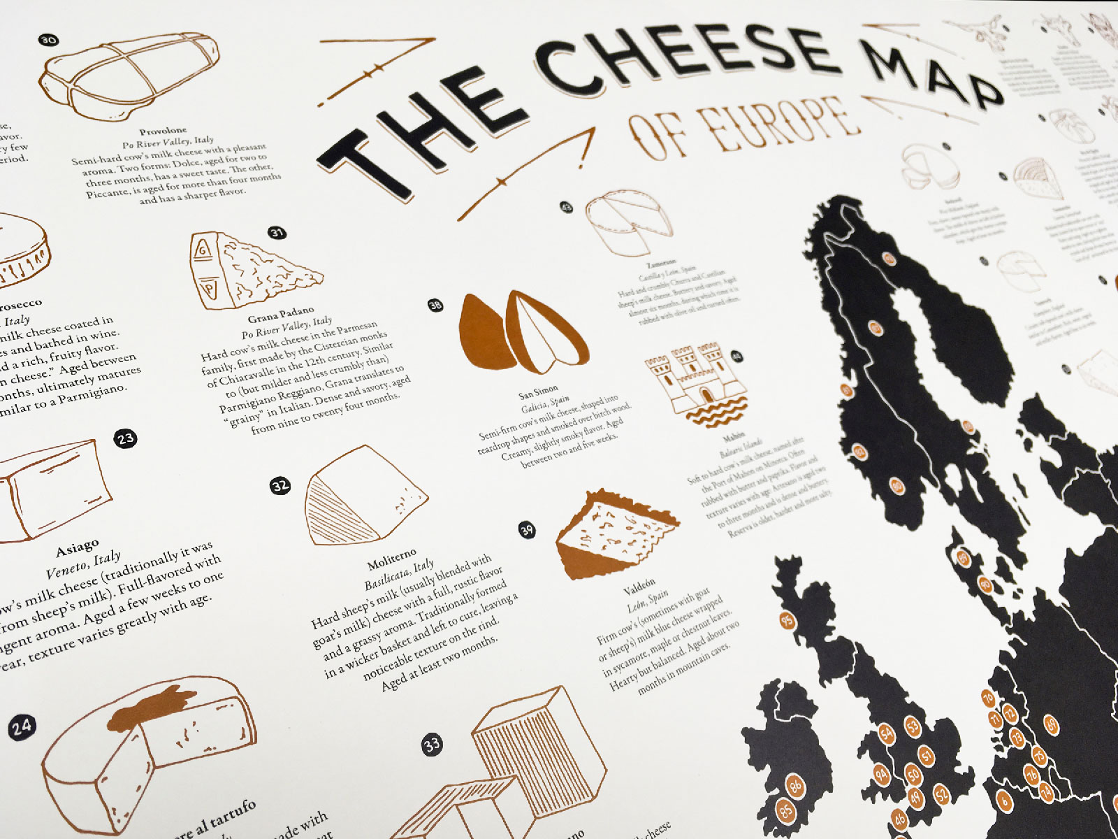This Map Covers 100 Different European Cheeses on One Frameable Poster