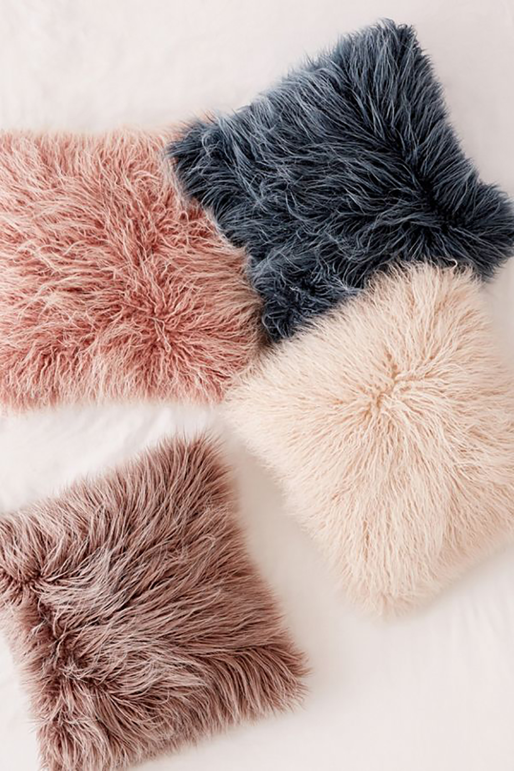 Marisa Tipped Faux Fur Pillow: Urban Outfitters Home Sale