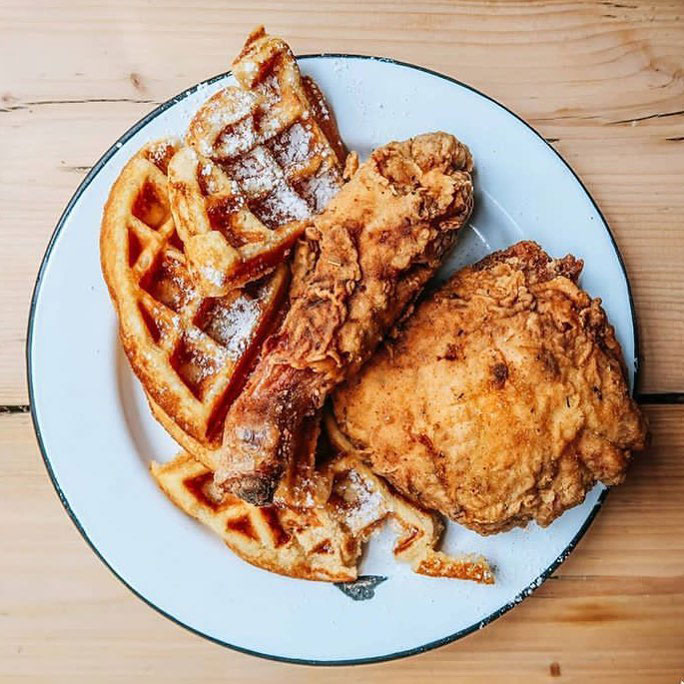 Gumbo Yaya Chicken and Waffles