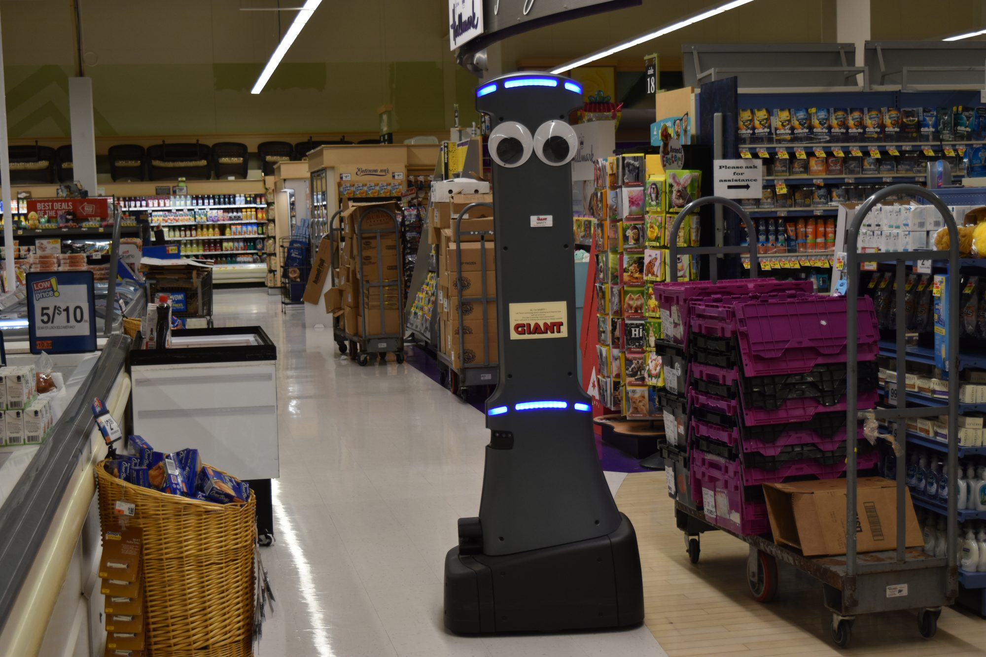 Supermarket Chain Enlists Googly-Eyed Robots to Clean Up Spills