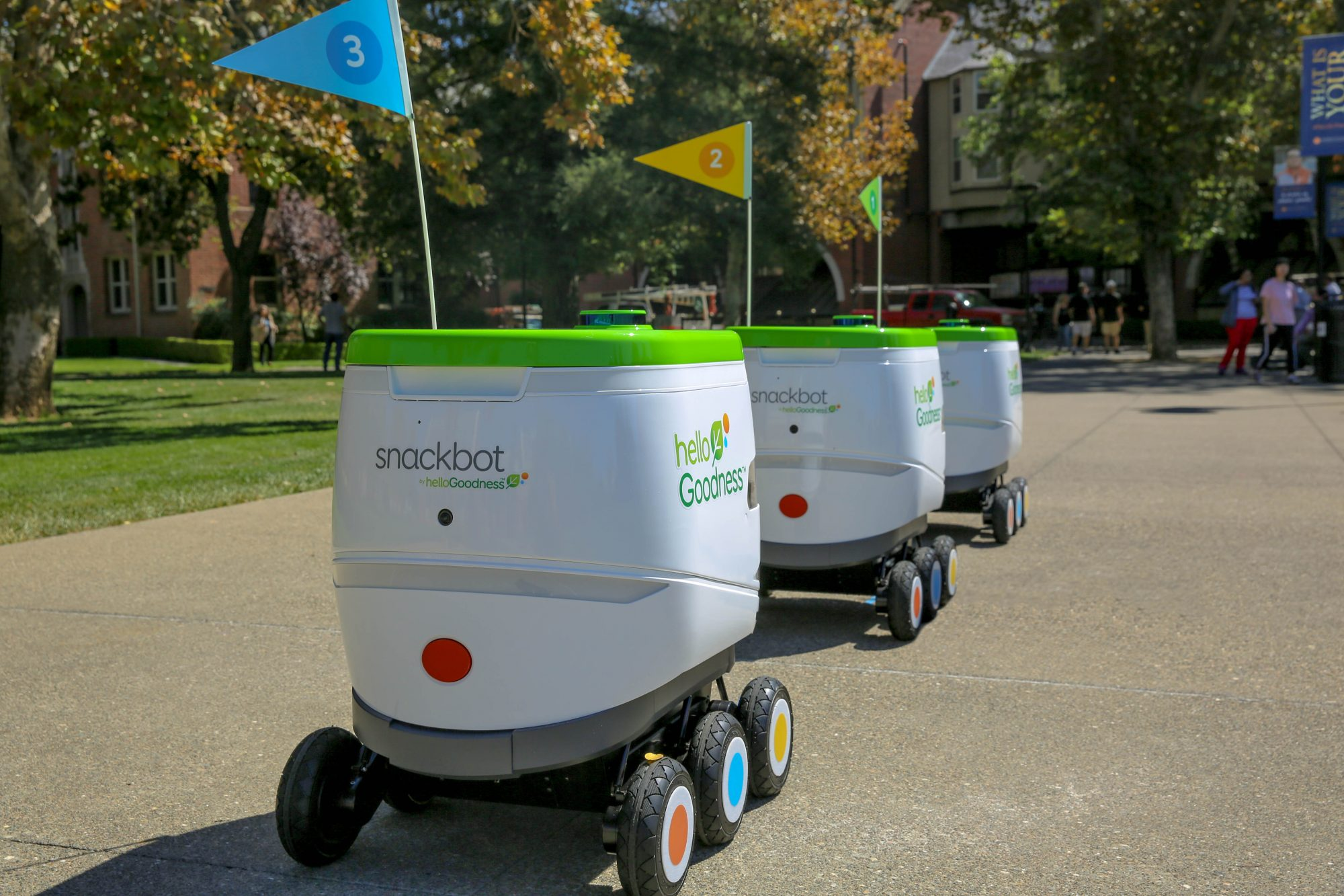 Fleets of Snack-Wielding Robots to Invade College Campuses
