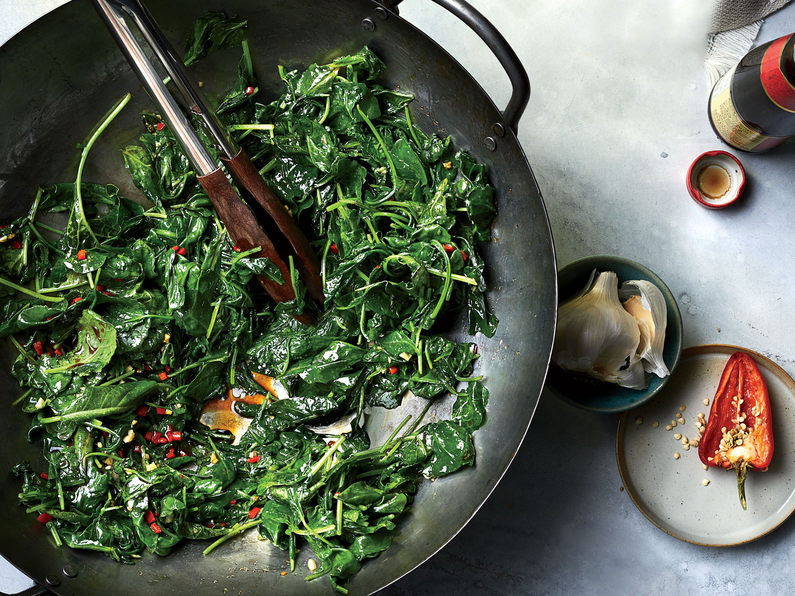 Baby Kale Stir-Fried with Oyster Sauce